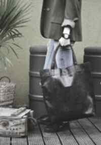 Torba mr m vintage czarna skóra naturalna na ramię monkey