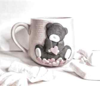 "Kubek ""różowy miś"" ceramika kubekzuzi nataliap kubek, kawa"