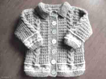 "Sweterek "" szary żakiecik gaga art sweterek, cieplutki,"