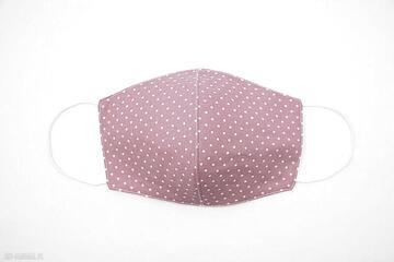 Maska bawełniana dwuwarstwowa maseczka ochronna na rower różowa