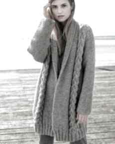 Sweter płaszcz york swetry dziane sweter, płaszcz, wełniany