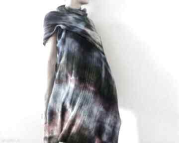 Wełniany szal z błękitem szaliki anna damzyn szal, szalik