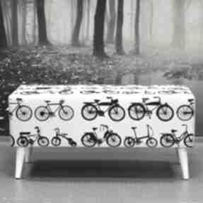 Ławka white bikes dekoracje bazaar ławka, ławeczka, pokoiku