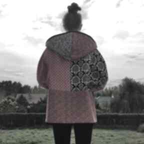 płaszcze: płaszcz waciak kaptur folk boho kimono
