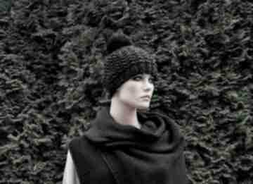 Gruby wełniany szal unisex szaliki hermina z-wełny, zimowy szal
