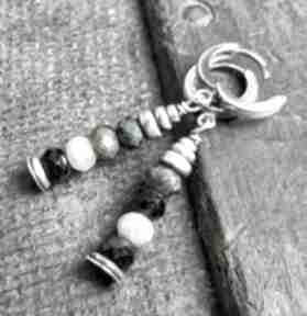 Kolczyki srebrne z turmalinami treendy srebrne, srebro