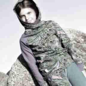 Bluza dla dziewczynki 146 -158 cm - pawie pióra mimi monster