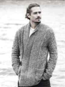 Sweter brisbane swetry dziane męski, kardigan, prezent