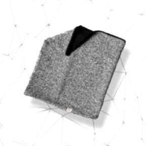 Męski szalik na prezent, komin wełniany w jodełkę kominy