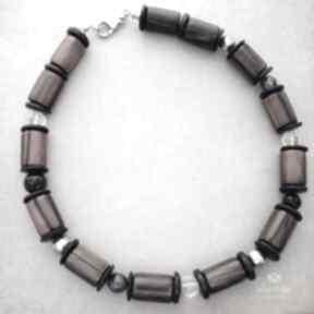 Uri naszyjniki bead story korale, metal, heban, minerały, eko,