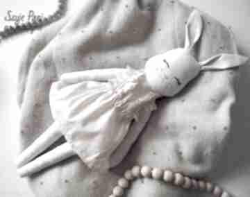 Króliczek #202 lalki szyje pani lalka, szmacianka, eko zabawki