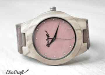 Damski drewniany zegarek macaw diamond zegarki ekocraft zegarek