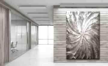Dekoracyjny obraz do salonu z płaskorzeźbą dekoracje art and