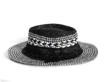 Kapelusz black & white czapki fascynatory kapelusz, czarny,