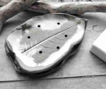 Duża ceramiczna mydelniczka c241 ceramika shiraja mydelniczka