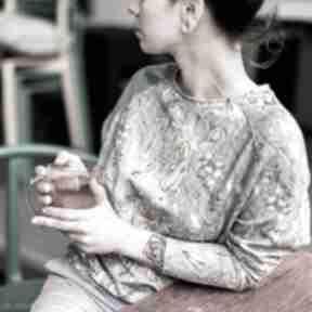 Pastelowa bluza damska - flora bluzy mimi monster bawełniana