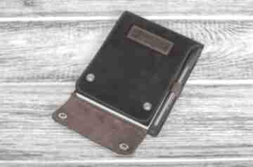 Ręcznie robiony skórzany notes mały a6 100% skóra notesy