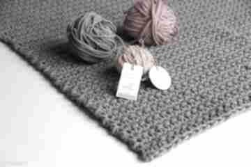 Dywan dziergany ze sznurka lovely grey motilove sznurka