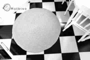Okrągły dywan o średnicy 110 cm motkovo dywan, carpet, sznurek,
