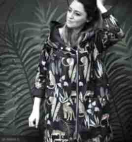 Oversize wodoodporny płaszcz w gepardy s płaszcze agagu kurtka