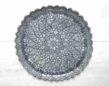 Ceramika Ana: ceramiczna-patera koronkowy-talerz talerz-z-koronką