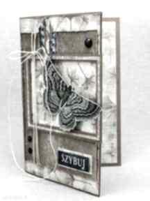 Vintage kartka z motylem scrapbooking kartki strefa scrapowania