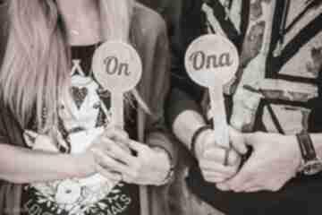 On ona - tabliczki na oczepiny 2 szt ślub hagal oczepiny, wesele