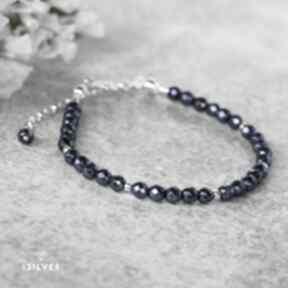 Bransoletka z hematytem mini w srebrze bernas hematyt, biżuteria