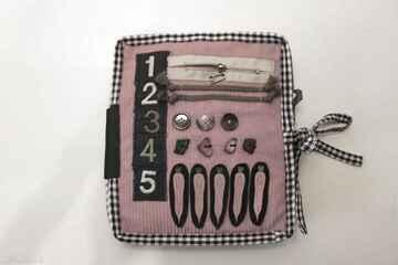 Książeczka sensoryczna zabawki flis anna książeczka, lalka,