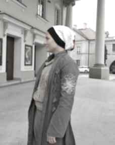 czapki? czapka zima etno boho kropki folk