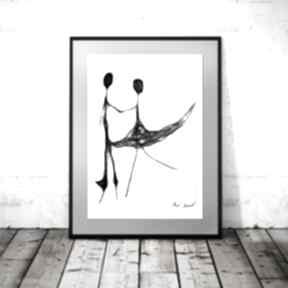 Grafika 86 maja gajewska dla par, nowoczesna grafika, dekoracja