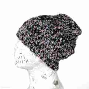 Kolorowa czapka z włóczki beanie 017 czapki godeco czapka