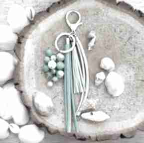 Brelok z kamieniami naturalnymi - ocean blue breloki reveal
