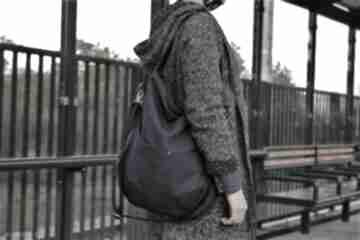 Workówka plecionka granat na ramię manufakturamms vegan, torba