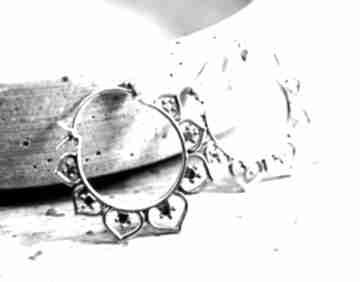 925 srebrne kolczyki karma orient spirale srebro lekkie delikatne