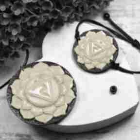 Komplet biżuterii manipura - wisiorek i bransoletka czakry