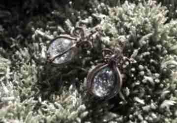 Kosmiczna koniczyna kolczyki kwiatu koniczyny żywicy miedzi