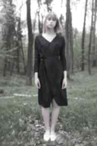 sukienki! Jedwabna Czarna