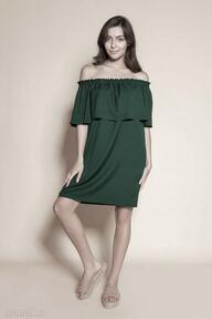 Krótka sukienka hiszpanka - suk201 zielony sukienki lanti urban
