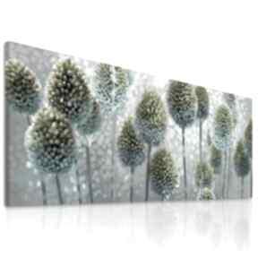 Obraz drukowany na płótnie kwiaty czosnków w błękitach -format