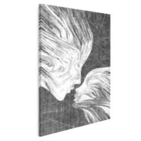 Obraz na płótnie - twarze pocałunek w pionie 50x70 cm 13512 vaku