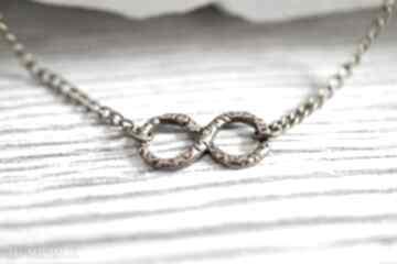 Nieskończoność infinity brązowy łańcuszek zawieszka medalion