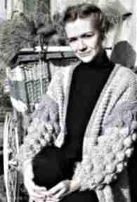 Kardigan handmade bąblowymi rękawami swetry sweter oversize
