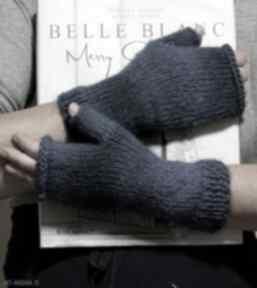 Mitenki ombre niebieski rękawiczki jaga11 na drutach, prezent