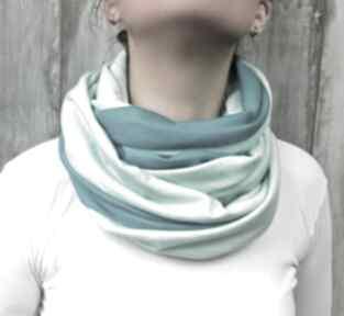 Komin damski bawełniany szalik szal jesień zima prezent wykonany