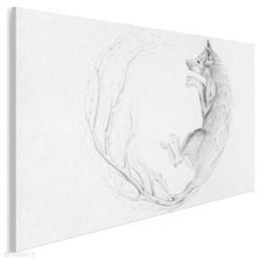 Obraz na płótnie - lis szkic natura 120x80 cm 53401 vaku dsgn