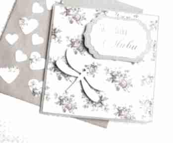 Kartka ślubna:: ważka:: retro kartki kaktusia ślub, ślubna,