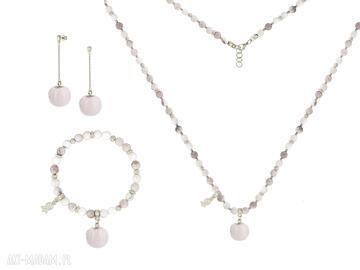 Zamówienie specjalne opal pompon łańcuszek kamień minerał