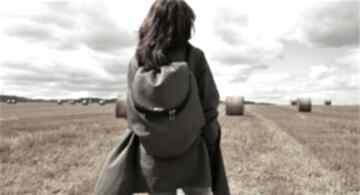 Plecak troczek grafit manufakturamms vegan, plecak, podróż