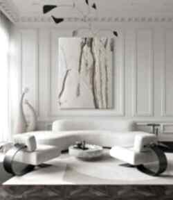 Powder pink - wielkoformatowy obraz na płótnie abstrakcyjny art&texture™